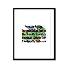 Pharmacists Framed Panel Print