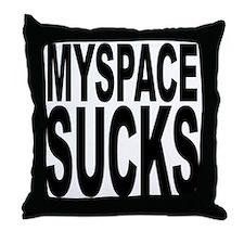 Myspace Sucks Throw Pillow