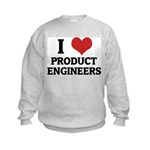 I Love Product Engineers Kids Sweatshirt