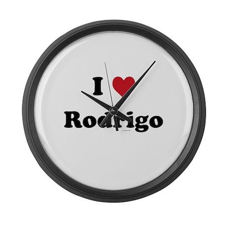 I love Rodrigo Large Wall Clock