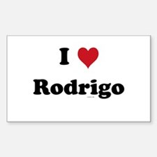 I love Rodrigo Rectangle Decal