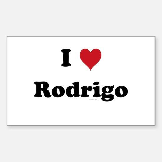 I love Rodrigo Rectangle Decal