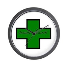 Jesus is Lord (Jade) Wall Clock