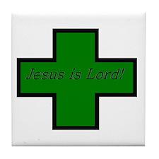 Jesus is Lord (Jade) Tile Coaster