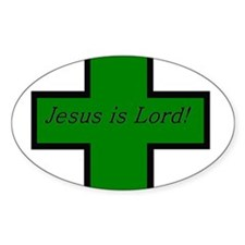 Jesus is Lord (Jade) Oval Decal