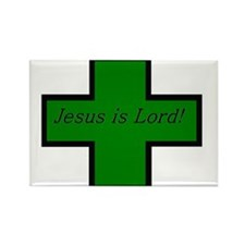 Jesus is Lord (Jade) Rectangle Magnet