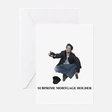 Subprime Mortgage Lender Greeting Cards (Pk of 10)