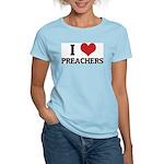 I Love Preachers Women's Pink T-Shirt