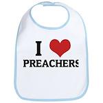 I Love Preachers Bib