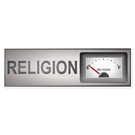 Religion On Empty Bumper Sticker