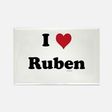 I love Ruben Rectangle Magnet