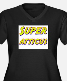 Super atticus Women's Plus Size V-Neck Dark T-Shir
