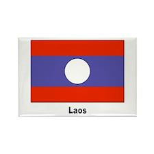 Laos Laotian Flag Rectangle Magnet
