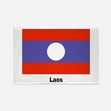 Laos Laotian Flag Rectangle Magnet