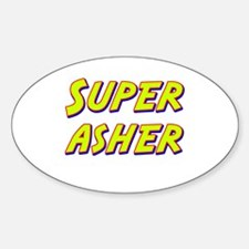 Super asher Oval Decal