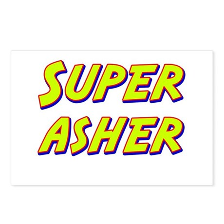 Super asher Postcards (Package of 8)
