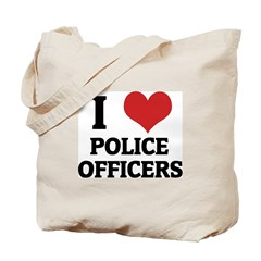 I Love Police Officers Tote Bag