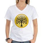 Tree In Amber Women's V-Neck T-Shirt
