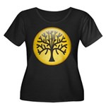 Tree In Amber Women's Plus Size Scoop Neck Dark T-