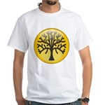 Tree In Amber White T-Shirt