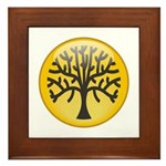 Tree In Amber Framed Tile