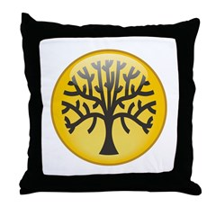 Tree In Amber Throw Pillow