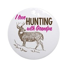 Hunting with Grandpa Ornament (Round)