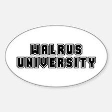 University Oval Decal