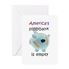 America 's piggybank Greeting Card