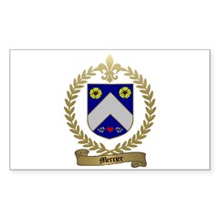 MERCIER Family Crest Rectangle Decal
