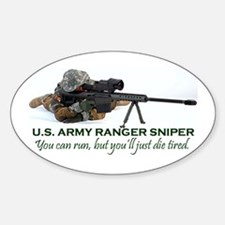 ARMY RANGER SNIPER Oval Decal