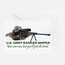 ARMY RANGER SNIPER Greeting Cards (Pk of 10)