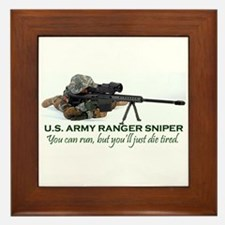 ARMY RANGER SNIPER Framed Tile