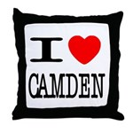 I (Heart) Camden Throw Pillow