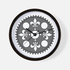 Fleur de Lee Chainring rhp3 Wall Clock