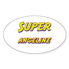 Super angeline Oval Decal