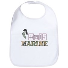 Cute Marine girl Bib