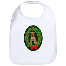 Welsh Terrier Christmas Bib