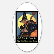 WITCH - WE'LL EAT Oval Decal