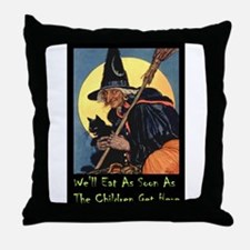 WITCH - WE'LL EAT Throw Pillow