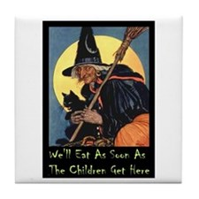 WITCH - WE'LL EAT Tile Coaster