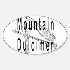 Mountain Dulcimer Oval Decal