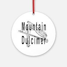 Mountain Dulcimer Ornament (Round)