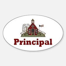 School Principal Oval Decal