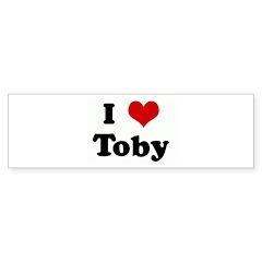 I Love Toby Bumper Sticker (50 pk)