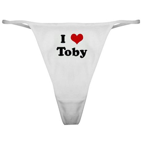 I Love Toby Classic Thong