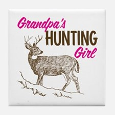 Grandpa's Hunting Girl Tile Coaster