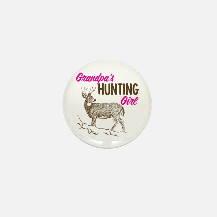 Grandpa's Hunting Girl Mini Button