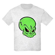 Painted Green Skull T-Shirt