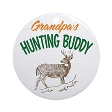 Grandpa's Hunting Buddy Ornament (Round)